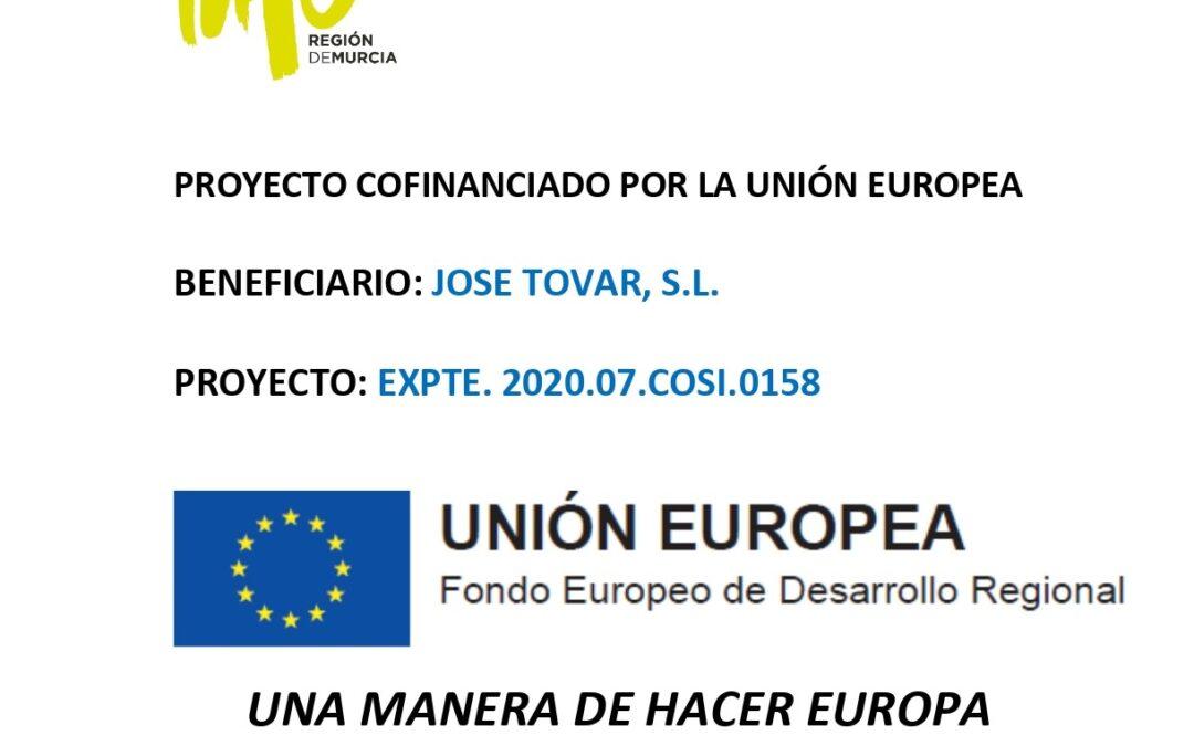 Concedida la ayuda del Fondo Europeo de Desarrollo Regional