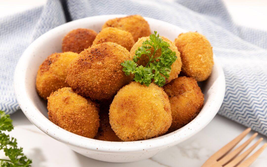 Receta de croquetas de patata, chistorra y queso