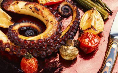 Receta de pulpo asado al estilo Murciano
