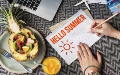 Propósitos saludables para cada mes del verano