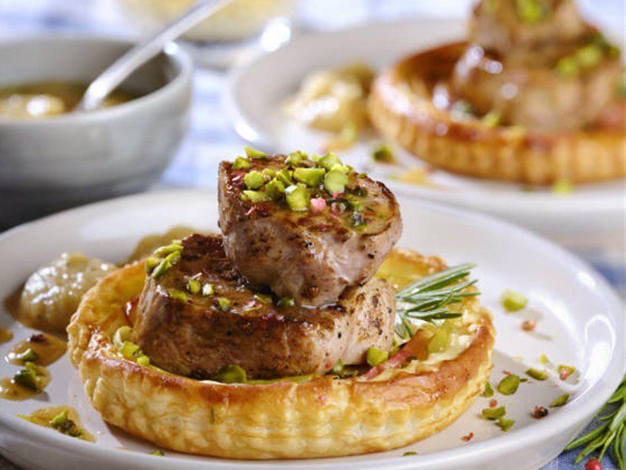Receta: Tartaletas de hojaldre con solomillo de cerdo